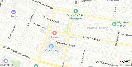 Советская улица в Балаково с номерами домов на карте. Спутник и схема онлайн