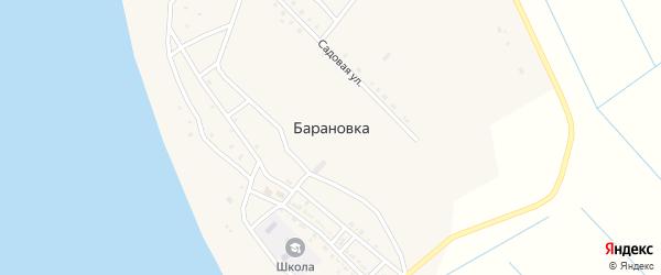 Пионерская улица на карте села Барановки Астраханской области с номерами домов