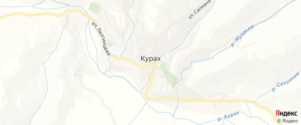 Карта села Кураха в Дагестане с улицами и номерами домов