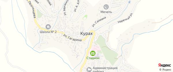Надречная улица на карте села Кураха Дагестана с номерами домов