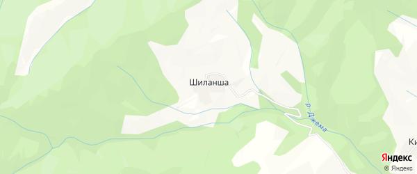 Карта села Шиланши в Дагестане с улицами и номерами домов