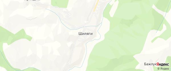 Карта села Шиляги в Дагестане с улицами и номерами домов
