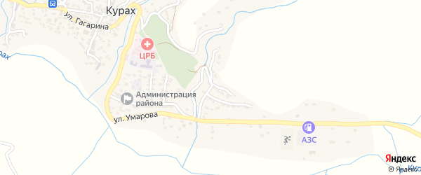 Улица Е.Эмина на карте села Маллакента Дагестана с номерами домов