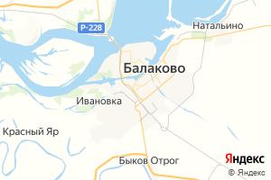 Карта г. Балаково Саратовская область