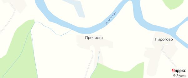 Карта села Пречисты в Архангельской области с улицами и номерами домов