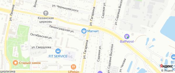 Улица Гагарина на карте Балаково с номерами домов