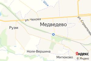 Карта пос. Медведево Республика Марий Эл