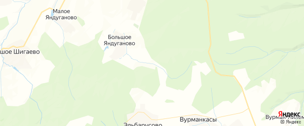 Карта Сутчевского сельского поселения Республики Чувашии с районами, улицами и номерами домов