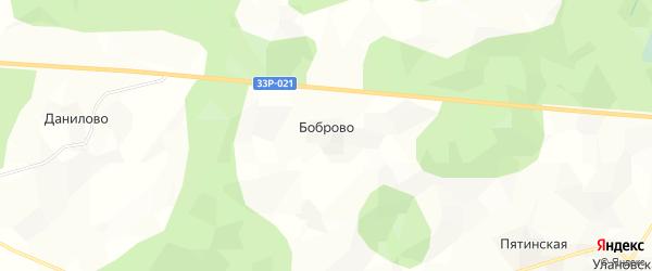 Карта деревни Боброво в Кировской области с улицами и номерами домов