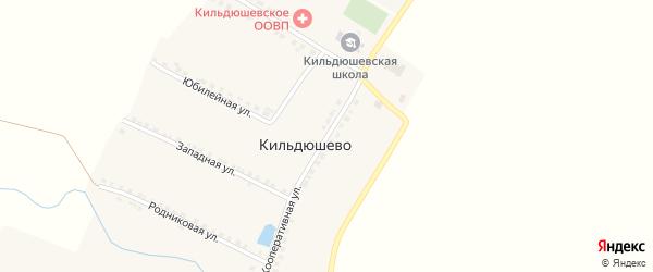 Кооперативная улица на карте деревни Кильдюшево с номерами домов