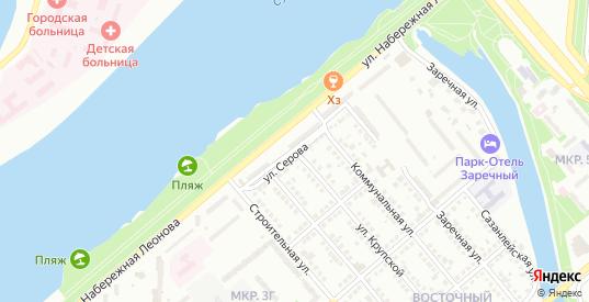 Улица Серова в Балаково с номерами домов на карте. Спутник и схема онлайн