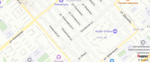 Улица Лобачевского на карте Балаково с номерами домов