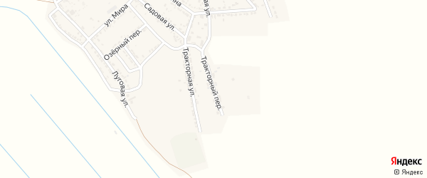 Тракторный переулок на карте села Хошеутово Астраханской области с номерами домов