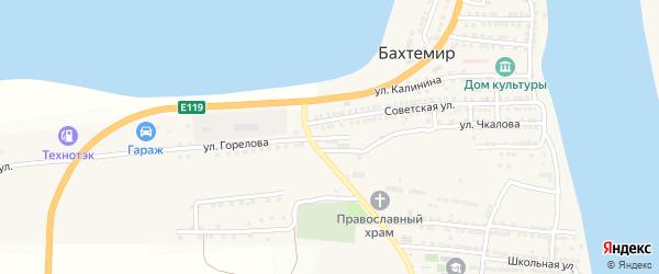Улица 70 лет Октября на карте села Бахтемира Астраханской области с номерами домов