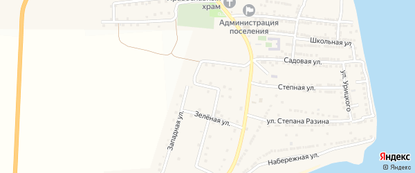Спортивная улица на карте села Бахтемира Астраханской области с номерами домов