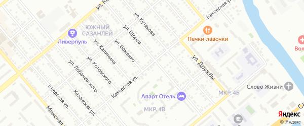 Каховская улица на карте Балаково с номерами домов