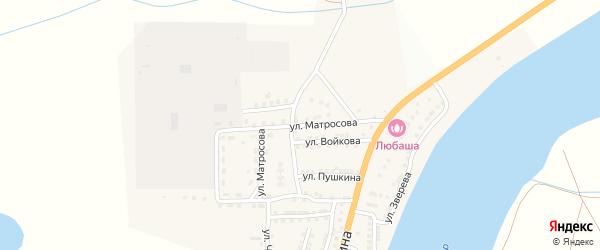 Улица Матросова на карте села Бахтемира с номерами домов