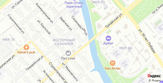 СТ Приканальное Заречная улица в Балаково с номерами домов на карте. Спутник и схема онлайн