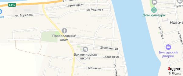 Улица Суворова на карте села Бахтемира Астраханской области с номерами домов