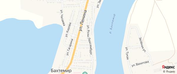Улица Р.Люксембург на карте села Бахтемира Астраханской области с номерами домов