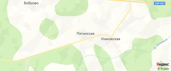 Карта Пятинской деревни в Кировской области с улицами и номерами домов