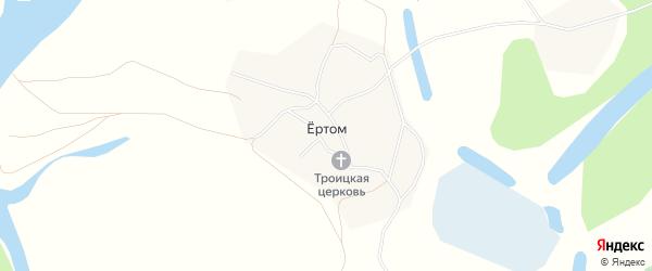 Карта села ертома в Коми с улицами и номерами домов