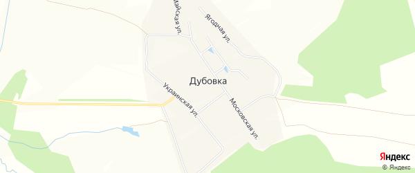 Карта деревни Дубовки в Чувашии с улицами и номерами домов