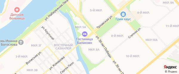 ГСК Ротор на карте Балаково с номерами домов