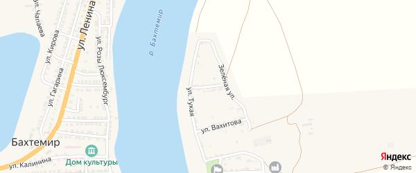 Улица Мусы Джалиля на карте села Ново-Булгары с номерами домов