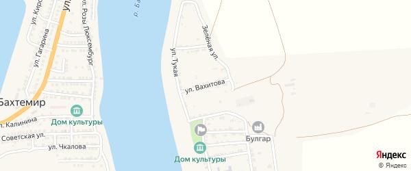 Улица Вахитова на карте села Ново-Булгары Астраханской области с номерами домов