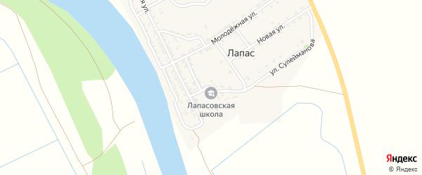 Школьная улица на карте села Лапаса Астраханской области с номерами домов