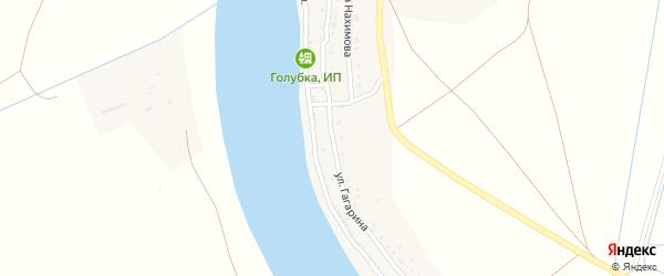 Улица Гагарина на карте села Самосделки Астраханской области с номерами домов