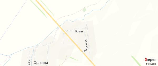 Карта поселка Клина в Ульяновской области с улицами и номерами домов