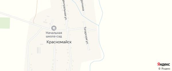 Татарская улица на карте деревни Красномайска Чувашии с номерами домов