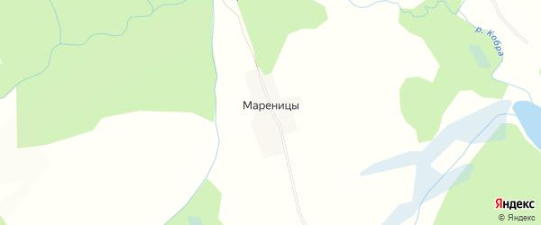 Карта деревни Мареницы в Кировской области с улицами и номерами домов