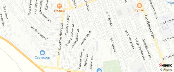 Надгорная улица на карте Избербаша с номерами домов