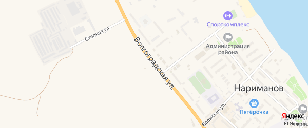 Волгоградская улица на карте Нариманова с номерами домов