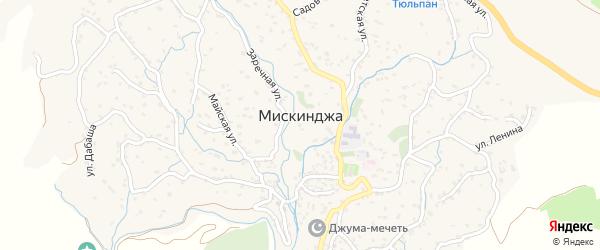 Улица Мира на карте села Мискинджи Дагестана с номерами домов