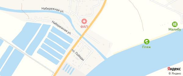 Заречная улица на карте села Алгаза Астраханской области с номерами домов