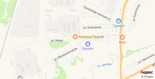 Улица Мира в Яранске с номерами домов на карте. Спутник и схема онлайн
