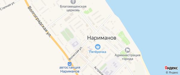 Волжская улица на карте Нариманова с номерами домов