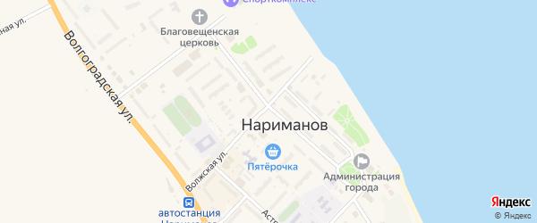 Островная улица на карте Нариманова с номерами домов