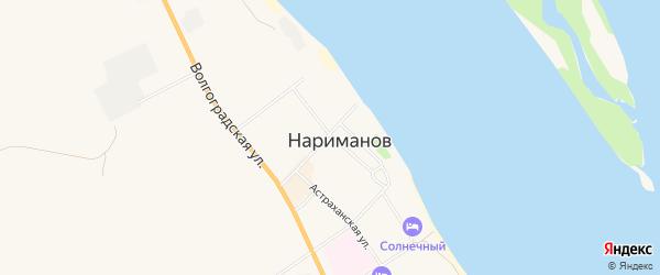 Территория СНТ Строитель-2 на карте Нариманова с номерами домов