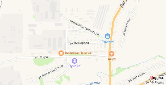 Улица Комарова в Яранске с номерами домов на карте. Спутник и схема онлайн