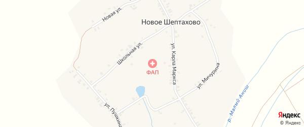 Новая улица на карте деревни Нового Шептахово с номерами домов