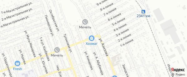 Улица Гагарина на карте Избербаша с номерами домов