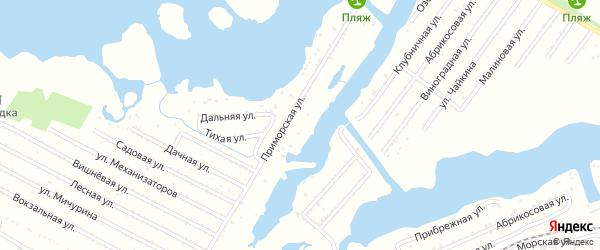 Дорожная улица на карте территории ДНТ Приморья Саратовской области с номерами домов