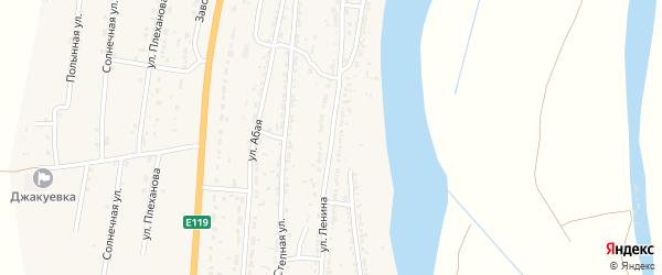 Улица Ленина на карте Волжского села Астраханской области с номерами домов