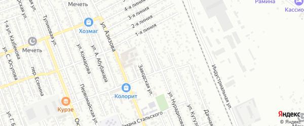 Карьерная улица на карте Избербаша с номерами домов