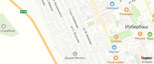 Улица Г.Долгата на карте Избербаша с номерами домов